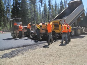 Reroute to Toketee Lake Paving